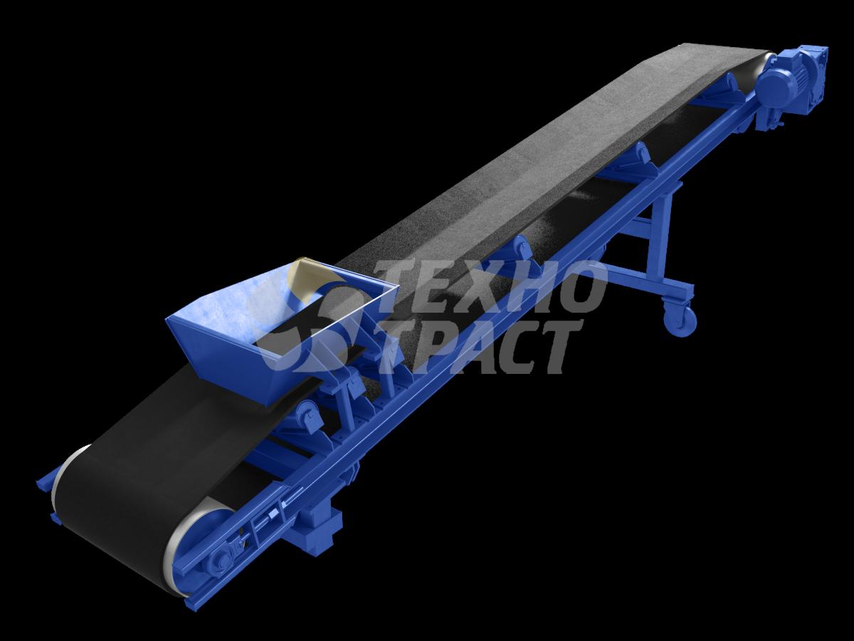 Подача бетонной смеси ленточным конвейером ролики рольгангов приводные